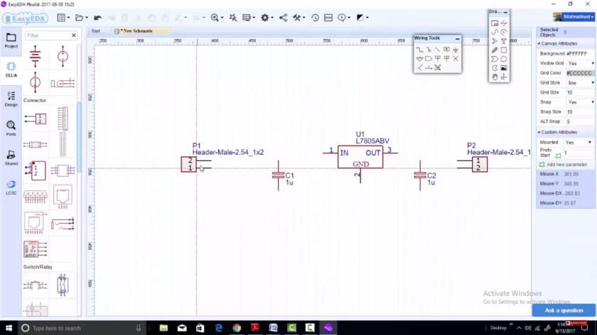 easyeda components placement 2
