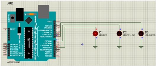 Simple One Way Traffic Light using arduino | Microcontrollers Lab