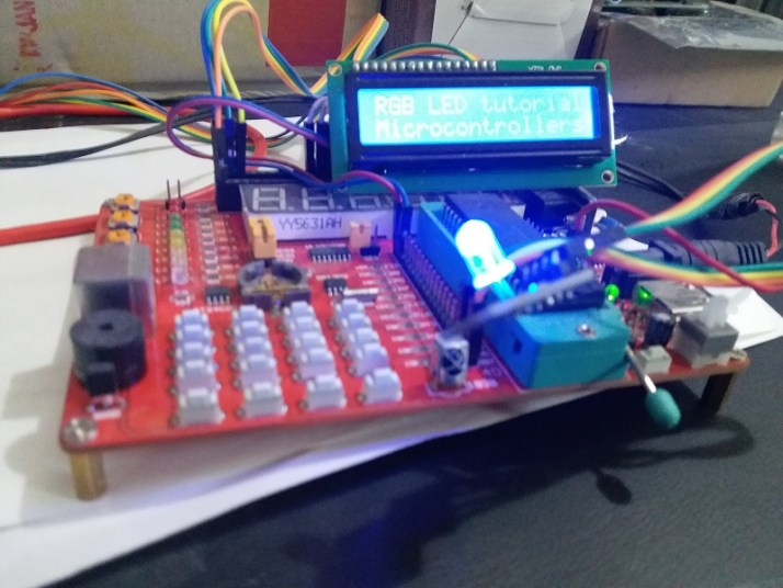 RGB LED interfacing with pic microcontroller