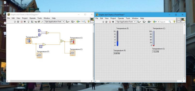 After indicators graphs in labview