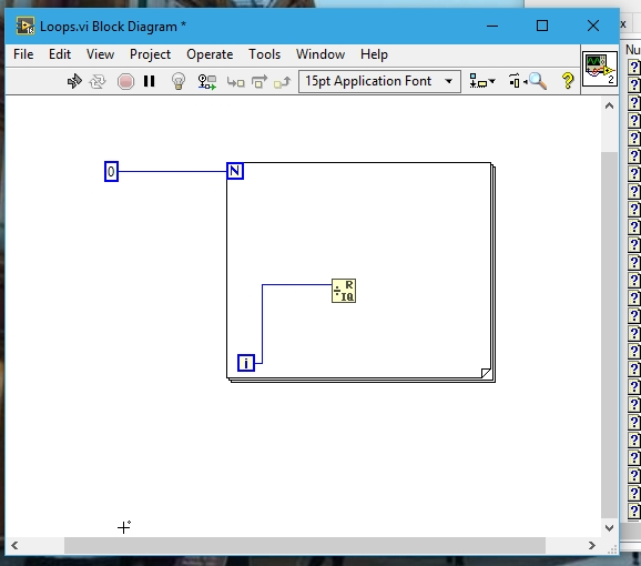 placement of loops in labview