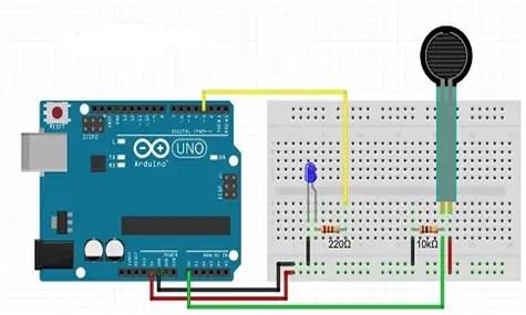 FSR 400 Force Sensing Resistor interfacing with Arduino
