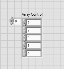 Filling array in labview