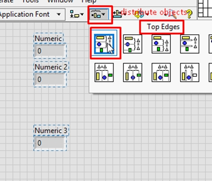 distribute objects in labview