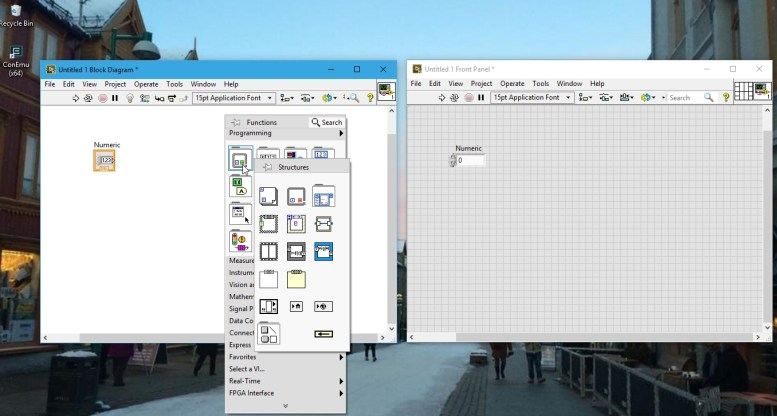 function palette labview