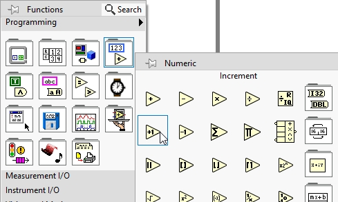 Sum of N numbers project in labview:
