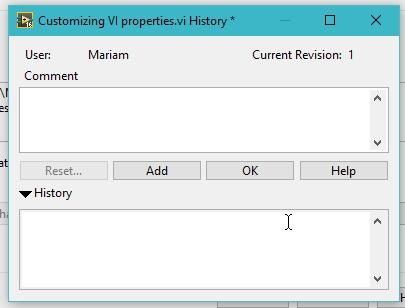 Customizing VI properties  of Labview