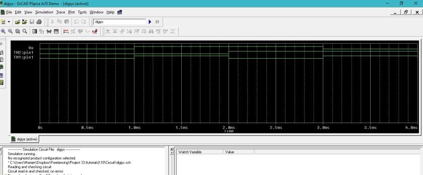 Digital circuits simulation using PSpice: tutorial 10