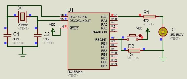 external interrupt example pic16f84a