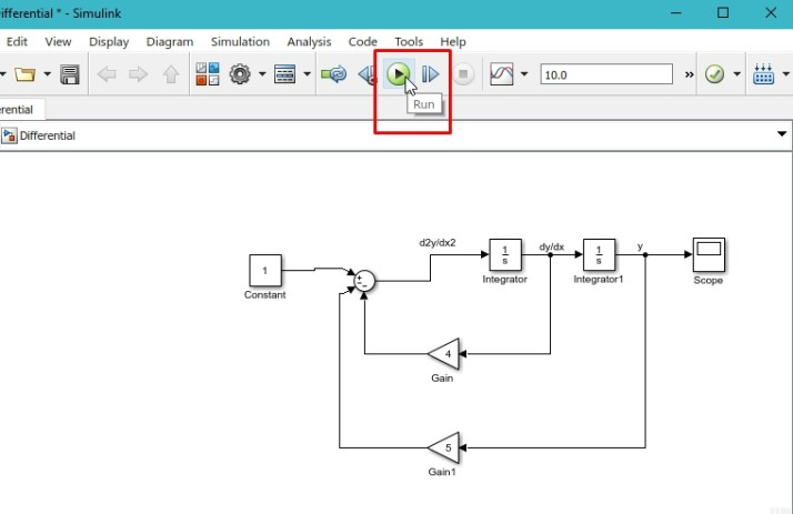 Solving Differential equations with Simulink: tutorial 2