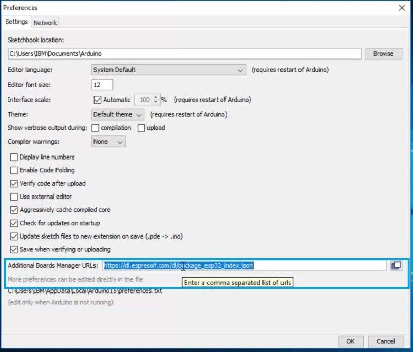 installing ESP32 in Arduino IDE 04