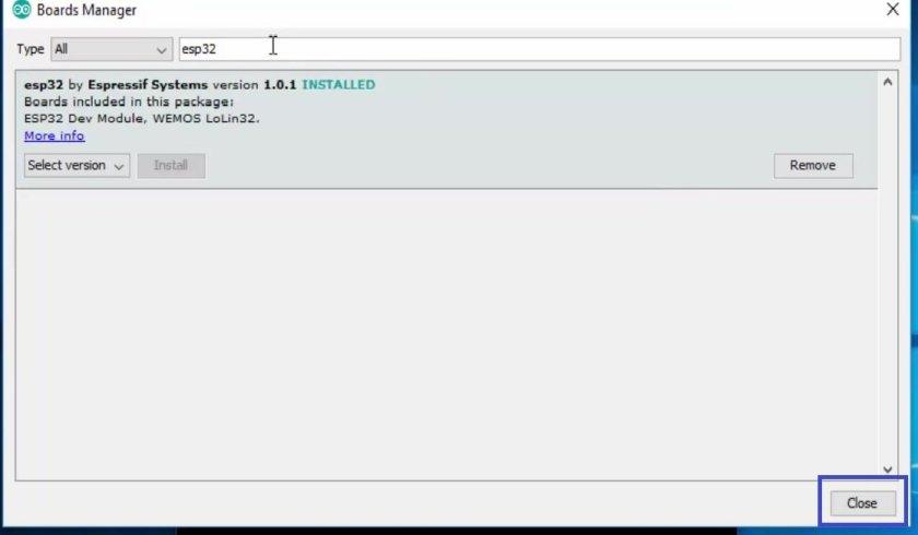 installing ESP32 in Arduino IDE 08