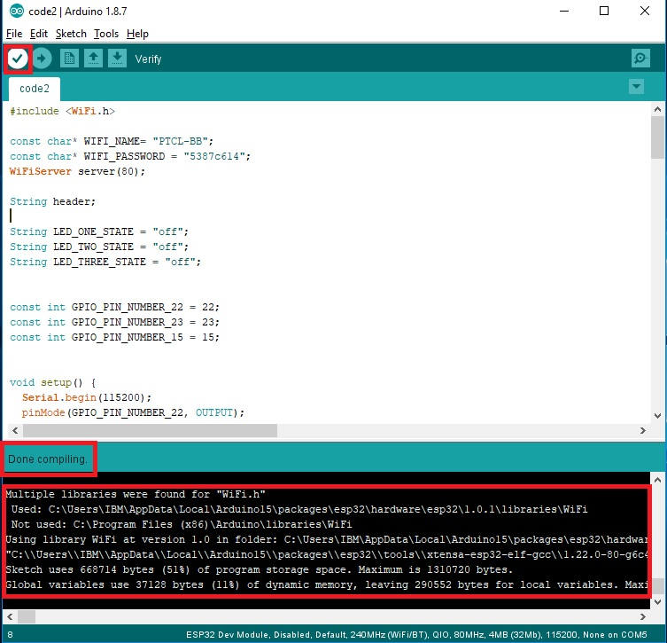 Esp32 Arduino Webserver