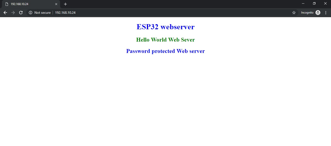 ESP32 Password protected web server in Arduino IDE