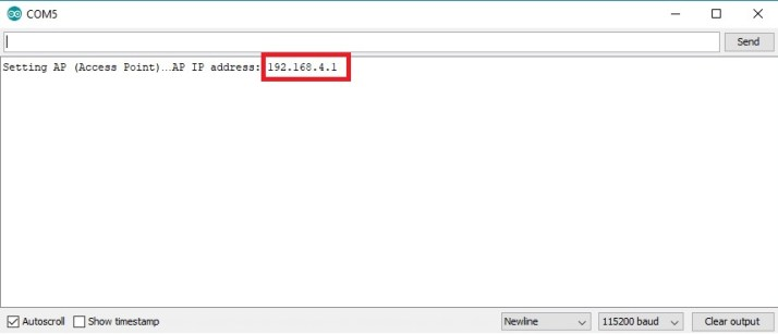 ESP32 soft access point web server IP address