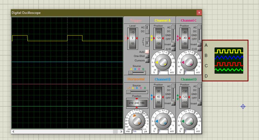 74LS14 Proteus simulation 3
