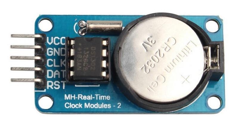 DS1302 RTC mdule pinout diagram