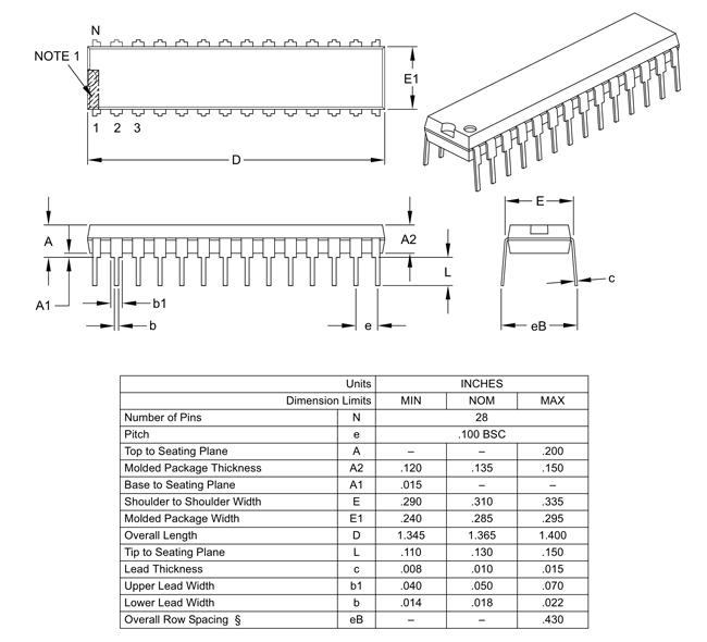 PIC18F2550 2D Diagram