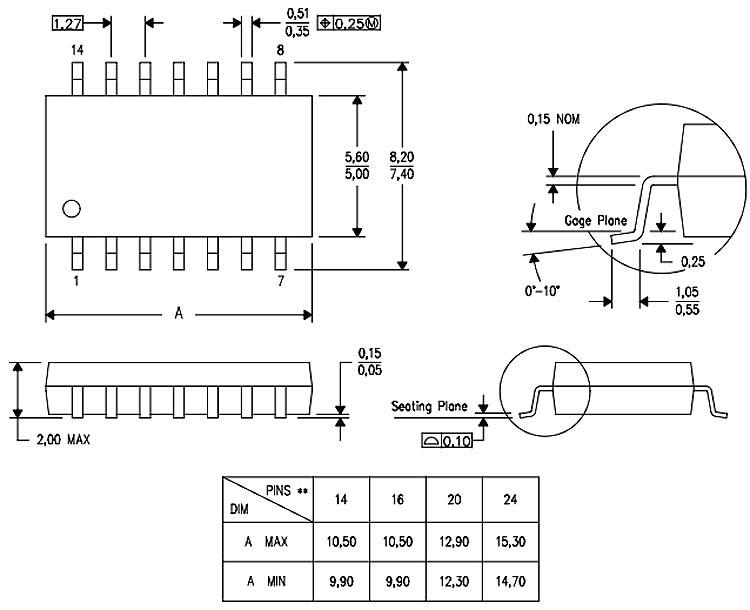2D Dimension diagram