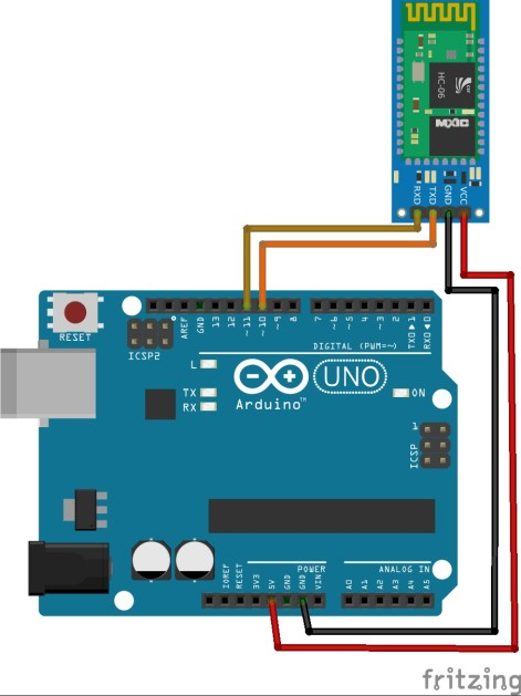 HC06 Bluetooth Module with arduino UNO Software Serial