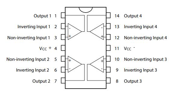 tl074 pinout diagram