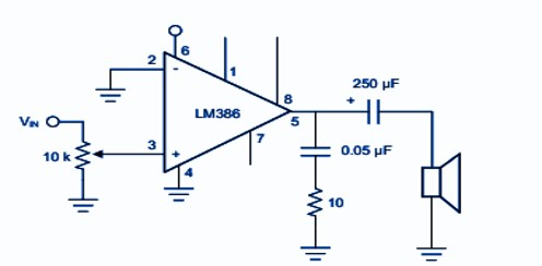 LM386 Amplifier with gain 20 Example
