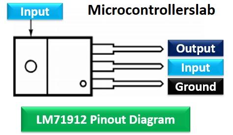 LM7912 pinout diagram