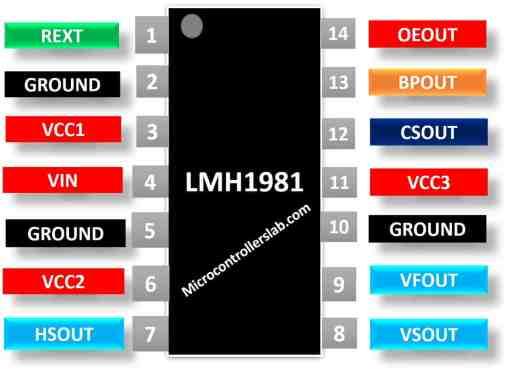LMH1981 pinout diagram