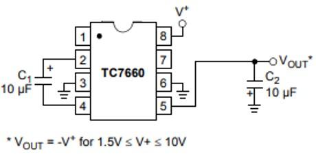 TC7660 voltage regulator Example circuit
