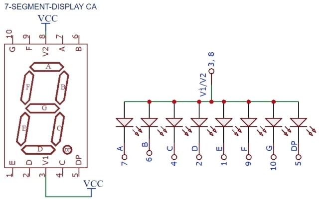 7 segment dislay pinout pic microcontroller tutorial