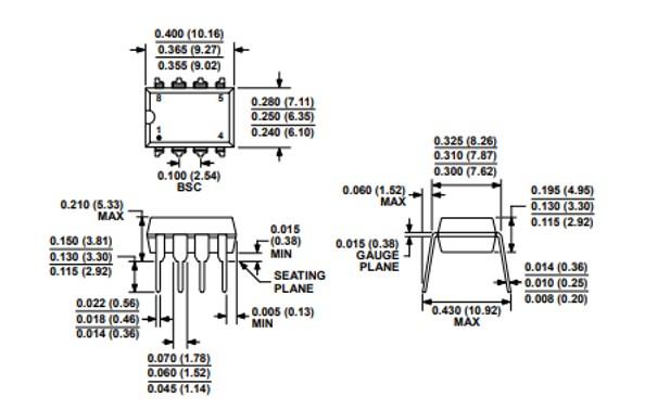 Instrumentation Amplifier IC 2D Diagram