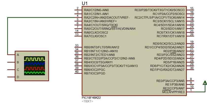 PIC18F46K22 Microcontroller Circuit