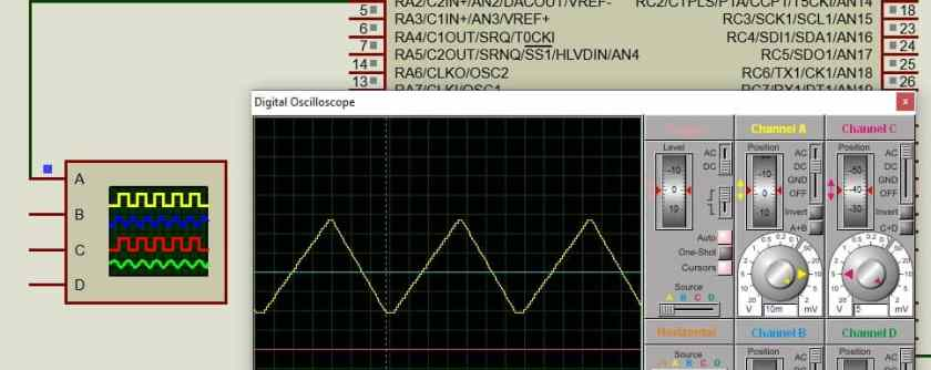 PIC Microcontroller DAC to generate triangular waveform simulation result