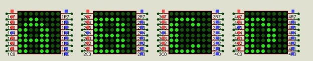 8x8 LED matrix output with microcontroller MAX7219