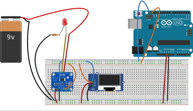 INA219 with Arduino and display current on OLED