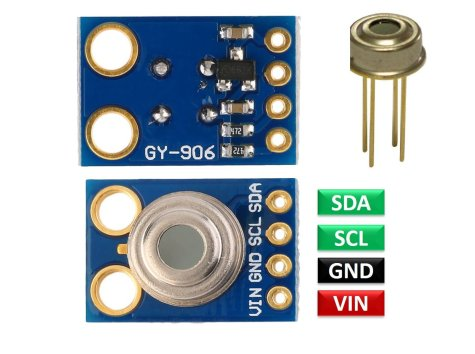MLX90614 Non-Contact IR Temperature Sensor pinout diagram