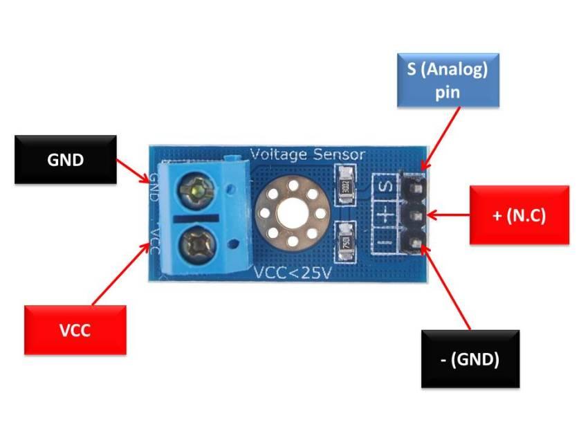 Voltage sensor module pinout diagram