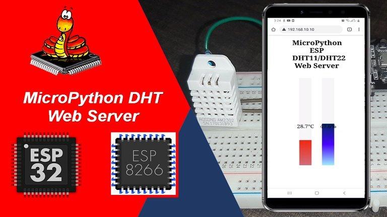 micropython esp32 esp8266 dht11 dht22 web server