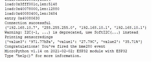 IFTTT microPython shell sensor reading through email