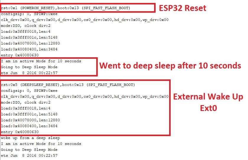 esp32 external wake up from deep sleep ext0 micropython