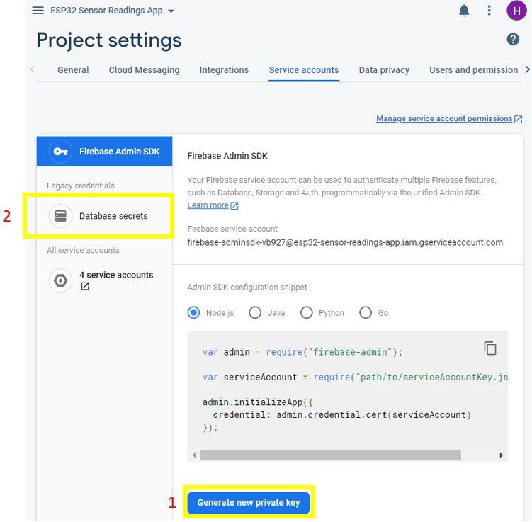 ESP32 Google Firebase build your own app 5