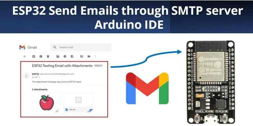 ESP32 Send Emails through SMTP server in Arduino IDE