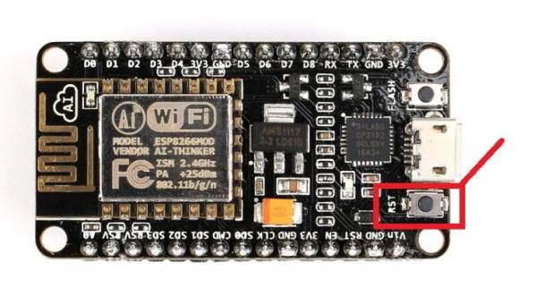 ESP8266 NodeMCU reset button