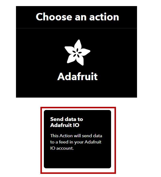 IFTTT Control LED ESP32 Adafruit choose action
