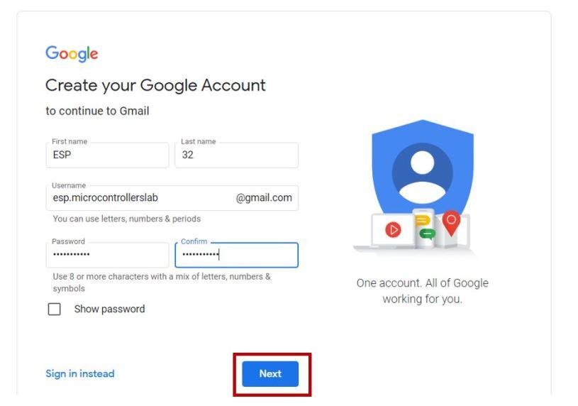Setting new gmail account 2