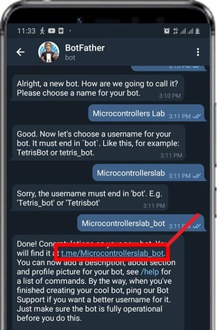 open telegram bot