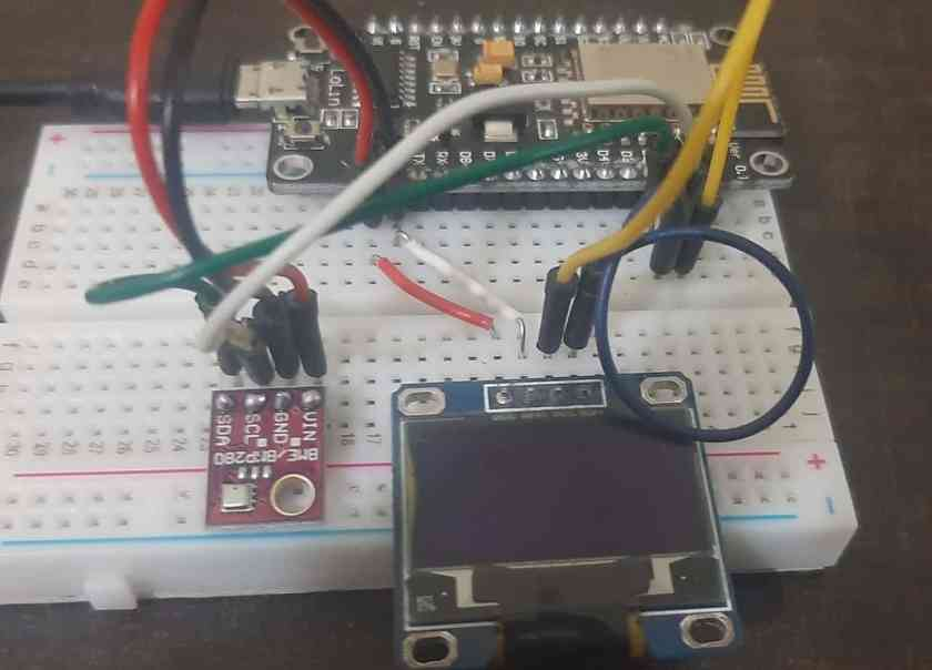 BME280 with ESP8266 NodeMCU and OLED