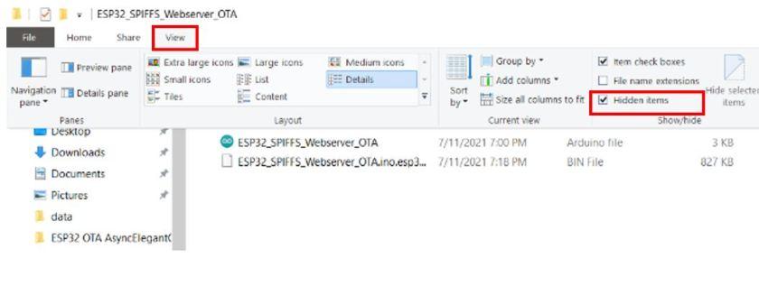 ESP32 OTA updates via AsyncElegantOTA example3 pic2