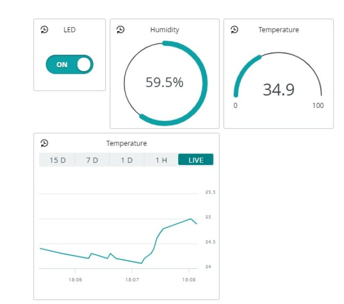 Getting Started with Arduino IoT Cloud using ESP32 Send Sensor Readings and Control Outputs