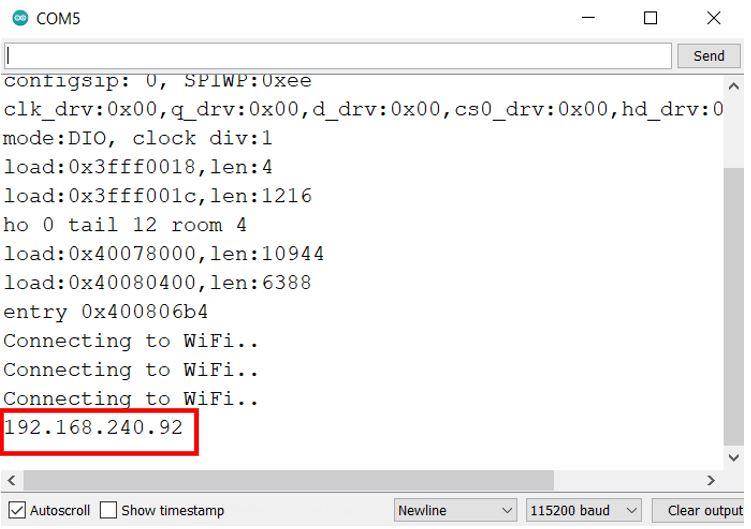 Telegram with BME280 demo serial monitor